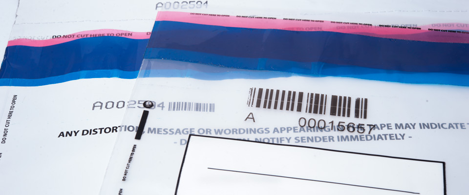 To prevent replacements of similar bags, it's recommended that the unique serial numbers of the bags are logged when used. Most bags are barcoded with the corresponding serial number to reduce the chance of human error when logging.
