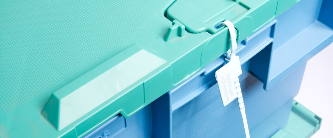 Designed with tote box applications in mind, once applied to a tote box the seal is easy to read and still has a low profile to minimise snagging when handling tote boxes.