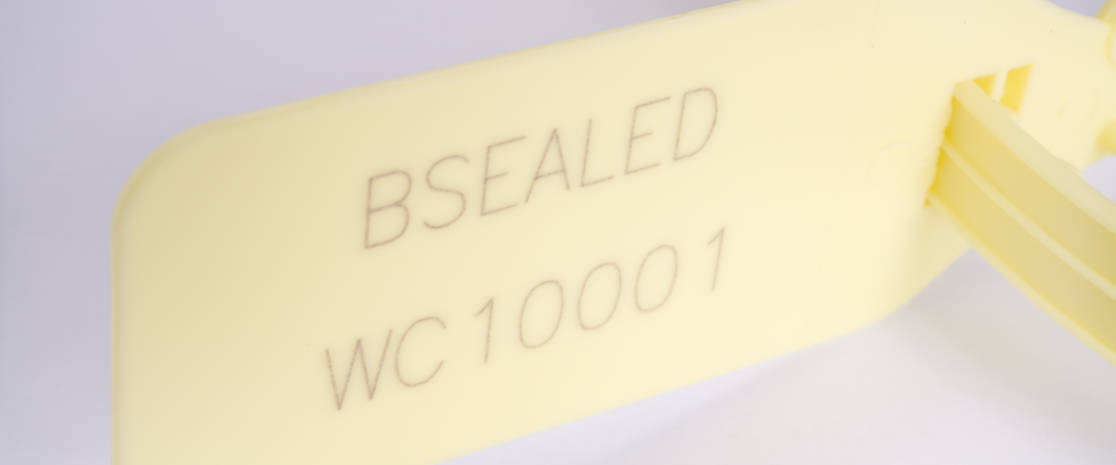 The laser engraved printing allows markings such as logos and serial numbers to be embedded into the plastic, making the markings impervious to removal by solvents.