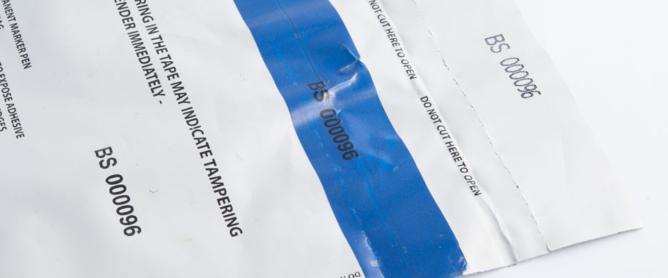 To further enhance integrity of the bag, our SCEC approved bags have corresponding serial numbers on the bag to prevent replacement of the tape if removed during tampering.