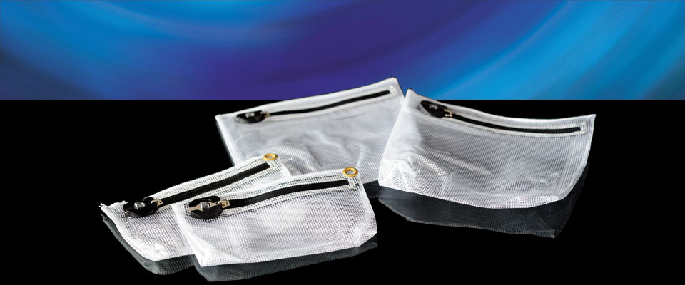 Our clear bags are designed to be see through so that the contents may be inspected at a glance. A front window allows for notes and forms to be inserted (from the inside only) without impeding visibility.