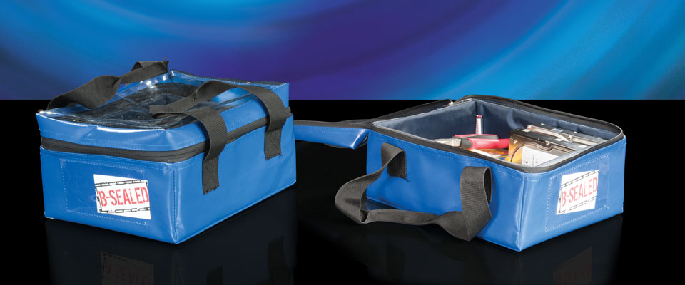 Clear top kit bags are designed with a see-through window for visual inspection. With reinforced walls and bottom, the bags are able to be lifted by carry handles for transport.