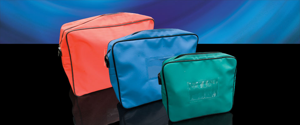 Pouch type security bags have depth to allow bulkier items to be stored within.