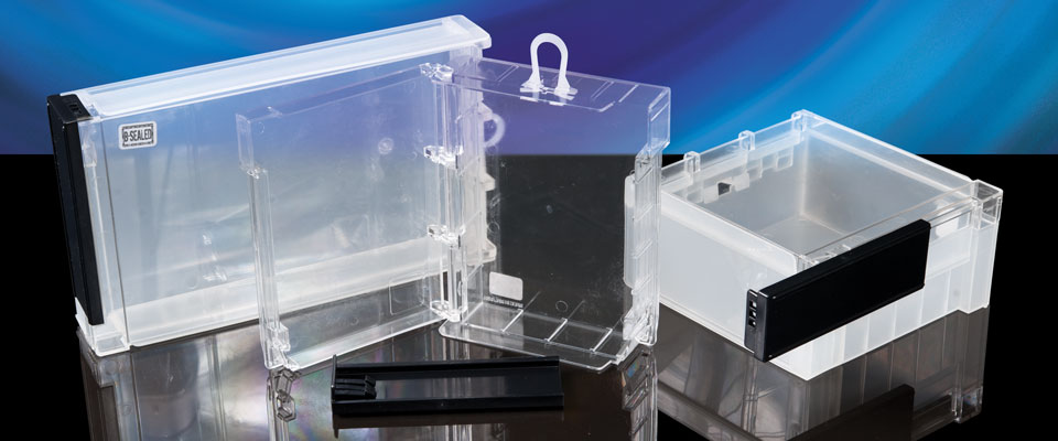 The Safer Box comes in a variety of sizes - choose one that fits your products. Mixing and matching is fine - the Key is common to every Safer Box.