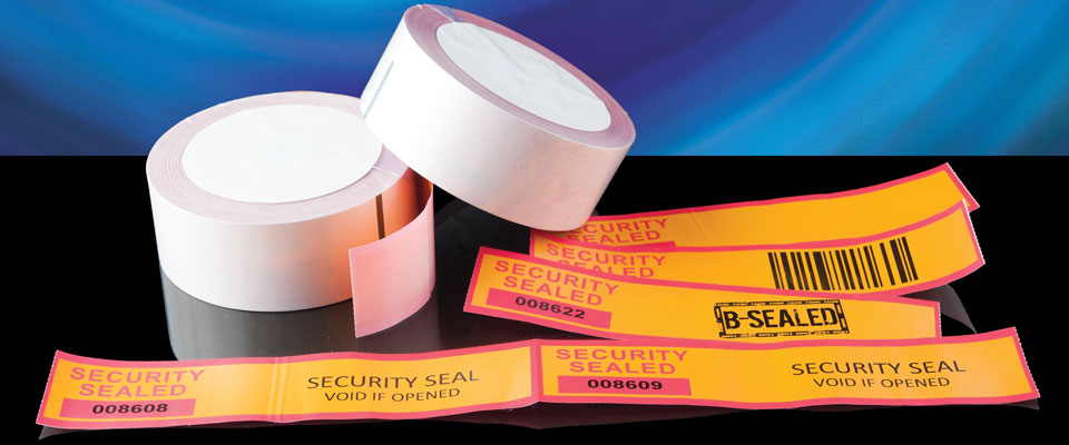 The X-Safe Tamper Evident Hybrid Tape may come in a roll, but it can also do the role of a label.