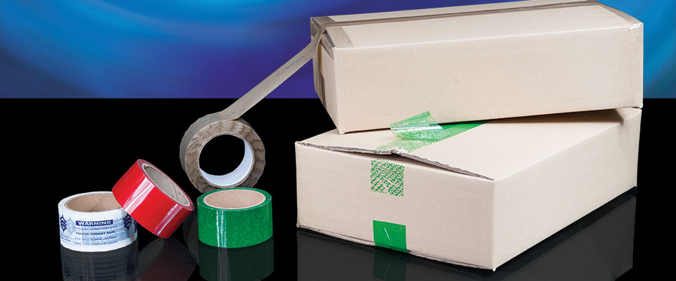 Resembling standard packaging tape, X-Safe tamper evident security tapes are able to void when peeled off or tampered with.