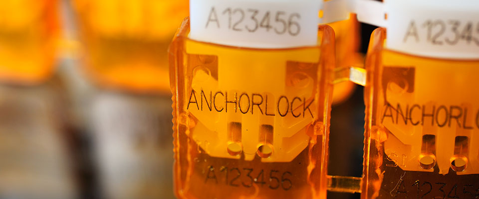 The AnchorLock double-clicks when applied - it has been designed with dual locking arrows so that it'll take more time for someone to circumvent both locking mechanisms.