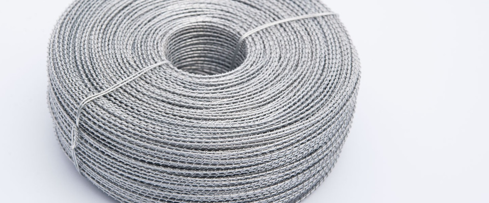 Rolls of galvanised twisted wire 0.8mm