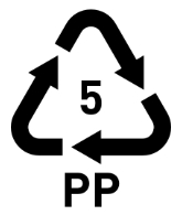 Recyclable plastic pp